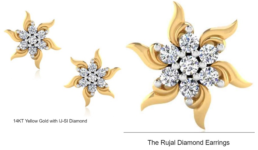 The Rujal Diamond Earrings