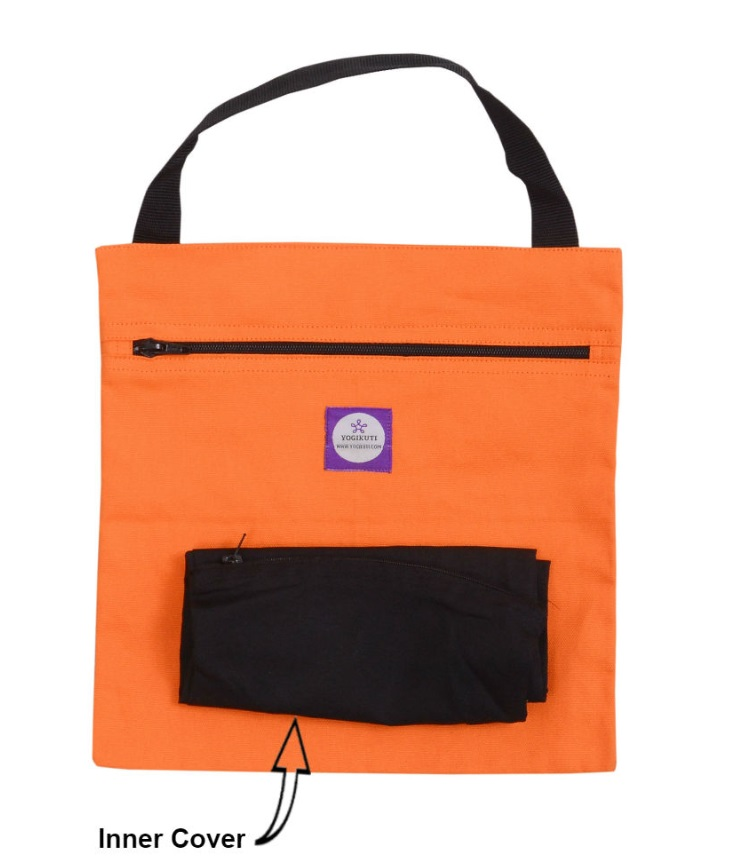 Yoga Sand Bag Cover Square Orange