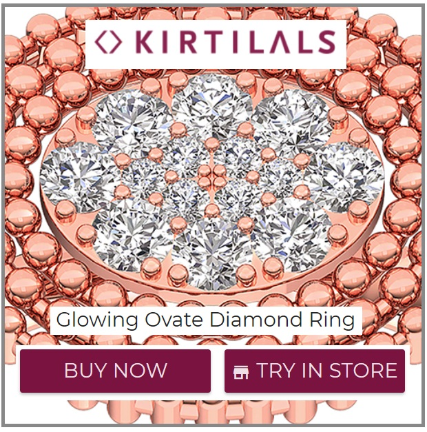Glowing Ovate Diamond Ring