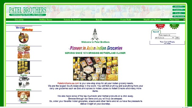 Patel brothers online shopping